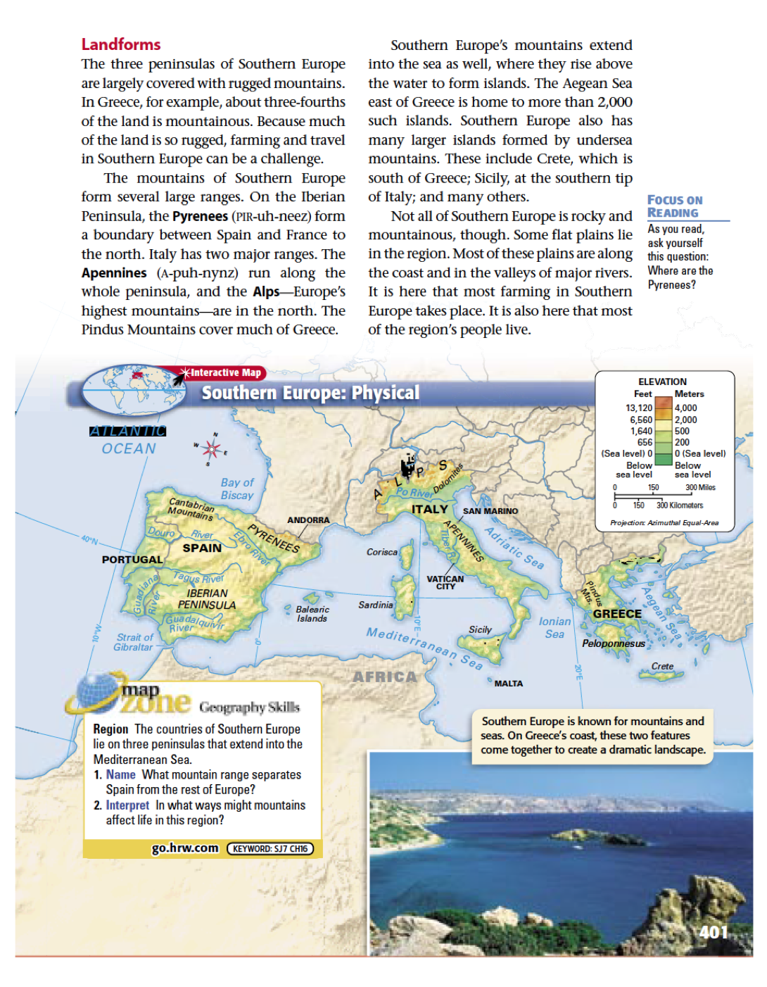 Picture of: Southern Europe Section 1 Mr Peinert S Social Studies Site